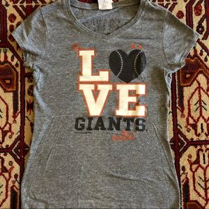 SF Giants Gray T-Shirt Size 16 (Sz S)